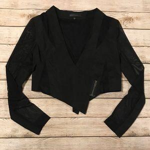 Jackets & Blazers - Black Cropped Blazer/Bolero Jacket